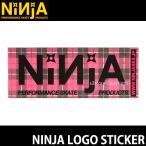 ニンジャ ロゴ ステッカー NINJA LOGO STICKER スケートボード デッキ チューン ブランド SKATEBOARD シール カラー:PINK サイズ:12.8×5.0