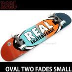 リアル オーバル ツー フェーズ スモール 【REAL OVAL TWO FADES SMALL】 スケートボード 完成品 初心者 ジュニア 女性 大人 カラー:52mm WHITE サイズ:7.5 x 31
