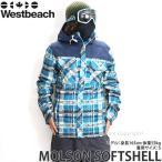 16 ウエストビーチ モルソン ソフトシェル 【Westbeach MOLSON SOFTSHELL】 国内正規品 スノーボード メンズ ウェア SNOWBOARD WEAR カラー:SEAWEED PLAID