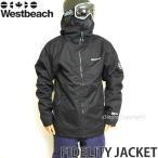 17 ウエストビーチ フィデリティ ジャケット 【Westbeach FIDELITY JACKET】 16-17 国内正規品 スノーボード スノボ ウェア メンズ SNOWBOARD WEAR カラー:Black