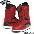17model バンズ アンコール 【VANS ENCORE】 16-17 スノーボード ブーツ メンズ Boa搭載 SNOWBOARD BOOT MENS カラー:Red/Black