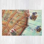 ショッピングHIGH ソサエティシックス Society6 ブランド ラグ ラグマット カーペット リビングマット 洗える おしゃれ - L:約122cm × 約183cm