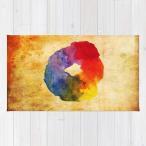 ショッピングcolors ソサエティシックス Society6 ブランド ラグ ラグマット カーペット リビングマット 洗える おしゃれ - S:約61cm × 約91cm