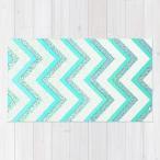 ショッピングNUDE ソサエティシックス Society6 ブランド ラグ ラグマット カーペット リビングマット 洗える おしゃれ - S:約61cm × 約91cm