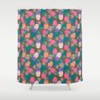 ソサエティシックス Society6 ブランド シャワーカーテン サイズ:約188cm × 約180cm デザイナー 188 180 おしゃれ