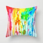 ショッピングcolors ソサエティシックス Society6 ブランド クッション 正方形 デザイナー おしゃれ - L:約50cm × 約50cm 50×50