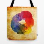 ショッピングcolors ソサエティシックス Society6 ブランド トートバッグ キャンバス デザイナー おしゃれ M:横40.6cm x 縦40.6cm 40×40 軽量 布 エコバッグ