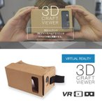 (あすつく) 3D VR クラフトビューアー vrゴーグル ヘッドセット Google Cardboard グーグル・カードボード 360° 動画 3D映像 スマホ メガネ iphone