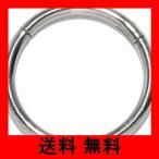[凛RIN] サージカルステンレス ワンタッチセグメントリング ボディピアス 軟骨ピアス フープ(14G・10mm/シルバー)