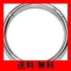 [凛RIN] サージカルステンレス ワンタッチセグメントリング ボディピアス 軟骨ピアス フープ(14G・8mm/シルバー)