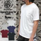 ブラウンバッグリカー BBL バインダークルーネック ポケット 汗じみ防止 Tシャツ 5色 SMLXL2XL 正規取扱店  bbl-cut1301p