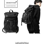 メメントイズム MEMENTISM THE WORLD バックパック ナイロン リュック  BAG 黒 ブラック レザー 革 大きめ スタッズ ストリート系 モード系 mmnt-theworld