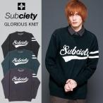 サブサエティ  SUBCIETY  GLORIOUS KNIT グロリアス ロゴ ニット セーター sb-10013