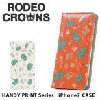 ロデオ クラウンズ RODEO CROWNS c06821603 iPhone7手帳ケース  アイフォンケース スマホケース 手帳型 レディース iPhone7 ミラー付き