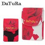 ダチュラ DaTuRa シガレットケース DTR-4305 BARA  リップケース ローズ柄 花柄 プリント ストラップ レディース