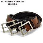 キャサリンハムネット ベルト メンズ KH-506028 KATHARINE HAMNETT ビジネス カジュアル フォーマル 牛革 本革 レザー