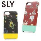 スライ SLY iPhone7 ポケット付き背面ケース s09809604 NIGHT FLOWER アイフォンケース スマホケース レディース iPhone7 改札エラー防止機能