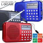 防災グッズ ラジオ LEDライト付きの多機能小型ポータブルラジオ AM/FM/MP3/録音/再生/USB