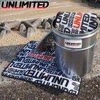 アンリミテッド UNLIMITED カーシートカバー シューズマット オリジナルスチール缶セット ULC5533-UL-L 防水シートカバー マリンスポーツ 着替え