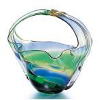 花瓶 ガラス 津軽びいどろ 手付き花器