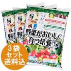 ガーデニング 土 野菜がおいしく育つ培養土 25L 3袋セット 用土 野菜用