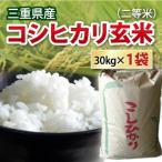 ショッピング玄米 平成30年度産新米!三重県産コシヒカリ玄米2等米 30kg