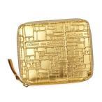 ショッピングCOMME コムデギャルソン 二つ折り財布 EMBOSSES LOGO ゴールド SA2100EG