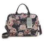 ショッピングキャスキッドソン キャスキッドソン Cath Kidston ブリーフケース Laptop Bag 755450 Paper Rose ネイビー