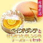 ベイクドダンテとはちみつとオレンジのチーズケーキセット (メーカー直送)(冷蔵便)(同梱不可)(代引不可) 手作りチーズケーキの店 ダンテ Dante