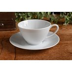 【白い食器】ホワイト アーバンスタイル コーヒー・紅茶兼用 カップ&ソーサー
