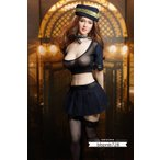 「素体服」1/6 女性 シームレス 素体用  女性用 ファギュア用 セクシースチュワーデス ジャンパー ショートスカート 帽子 ストッキング