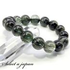 「1点もの 現品」 グリーンルチル ルチルクォーツ ブレスレット 13mm パワーストーン ブレスレット メンズ レディース 天然石 数珠