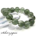グリーンルチル ルチルクォーツ ブレスレット 13mm パワーストーン ブレスレット メンズ レディース 天然石 数珠
