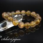 「1点もの 現品」 ブラウンルチルクォーツ ルチルクォーツ ブレスレット 13mm パワーストーン ブレスレット メンズ 天然石 数珠