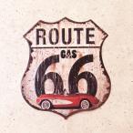 ルート66のブリキ看板(ナンバープレート)  サインプレート
