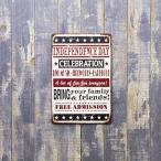 ブリキ看板 アメリカ雑貨 人気 サインプレート アメリカ看板 アンティーク インデペンデンス・デイ 独立記念日 [INDEPENDENCE DAY]