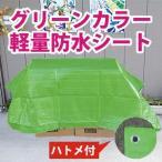 【サイズ、種類豊富】グリーンカラー軽量防水シート約1.8x2.7m(1間x1.5間) (#2000ブルーシートの緑)Newライトグリーン色