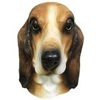 Off the Wall Toys Basset Hound Dog Costume Face Mask Kennel Club Brown