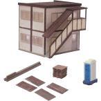情景小物051 工事現場A 現場事務所と小物 :トミーテック 塗装済みキット N(1/150) 224310