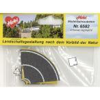 舗装道路 アスファルト カーブ用 Nサイズ :ヘキ 塗装済素材 N(1/160) 6582