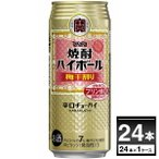 宝酒造 焼酎ハイボール 梅干割り 500ml×24本(1ケース)【送料無料※一部地域は除く】
