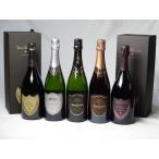 ドンペリ飲み比べ豪華スパークリングワイン5本セット ギフトボックス付きドンペリ白・ロゼ・ロジャー グラート カヴァ ロゼ・グラン