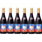 6本セットハローキティー ボージョレ・ヴィラージュ・ヌーヴォー2016赤ワイン×6本 750ml(ボジョレヌーボ)盛田甲州ワイナリー