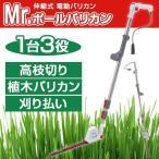 ムサシ(MUSASHI) Mr.ポールバリカン P-2001 伸縮式(伸縮幅:1.67〜2.7m) 電動草刈機 高枝切り ヘッジトリマー 刈り払い 園芸用品 P2001