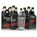 ギネスエクストラスタウト 瓶ビール12本セット ギネスオリジナルグラス1個付き