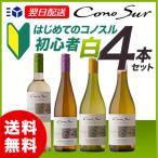 コノスル ヴァラエタル 初心者 白ワイン 4本セット 【送料無料】