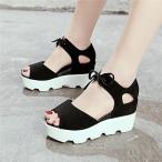 サンダル レディース ウエッジソール シューズ 夏 厚底 靴 ミュール 女性 美脚 おしゃれ 通勤 歩きやすい 20代 30代 40代