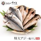 鰺魚 - アジ干物 大サイズ5枚入り 合計1kg以上(サイズ無選別) お中元