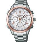 セイコー ドルチェ ソーラー電波 クロノグラフ チタン男性腕時計 限定品 替えバンド付 SADA034
