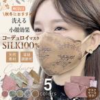 冬マスク シルクマスク シルク100% アジャスター付き コーデュロイ 刺繍 レースマスク 絹マスク 個包装 大人 保湿 美容 女性 繰り返し 洗えるマスク 大人用